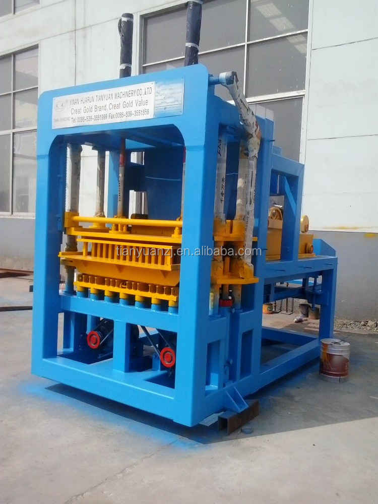 Tianyuan 4-20 autologic concrete block machine production line