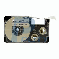Compatible black on white label tape casio kl tape cartridge of 9mm XR-9WE for EL-Label printer