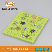 2016 New Custom 3D Number Letters Silicone Fondant Molds