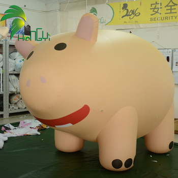 Floating Air Animal Models / Flying Giant Inflatable Pig Balloons for Advertising Events
