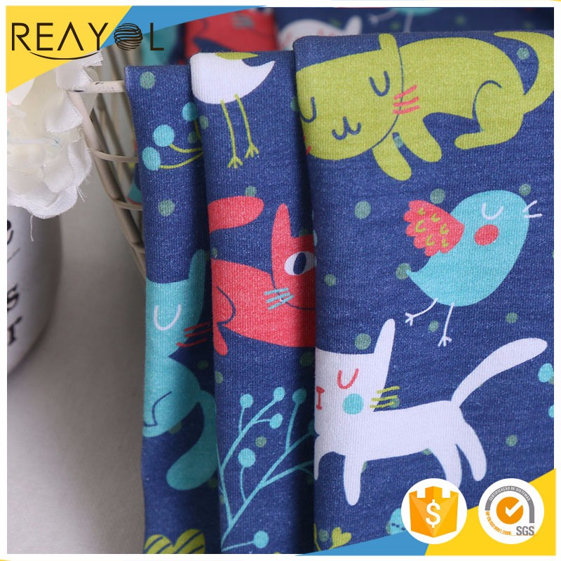 China wholesale 100% cotton cat print fabric bridal cotton fabric