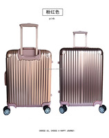 hot sell new product aluminum trolley and gold luggage new arrival unique and strong high quality