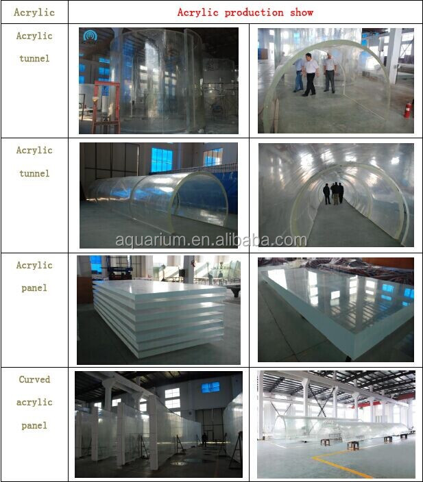 High quality and clear acrylic fabrication