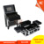 Trolley makeup luggage case,Hair Scissors Organizer Box with Trolley and Drawers inside, Made of Water-Cube Shaped ABS panel