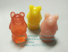 3D center filled fruit juice gummy bear candy