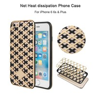 Colorful Heat transfer Heat dissipation PC TPU 2 in 1 Hybrid Net Phone Case For iPhone 6 Plus 6s