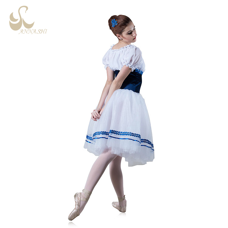 Professional ballet basic classical fluffy blue tutu dress