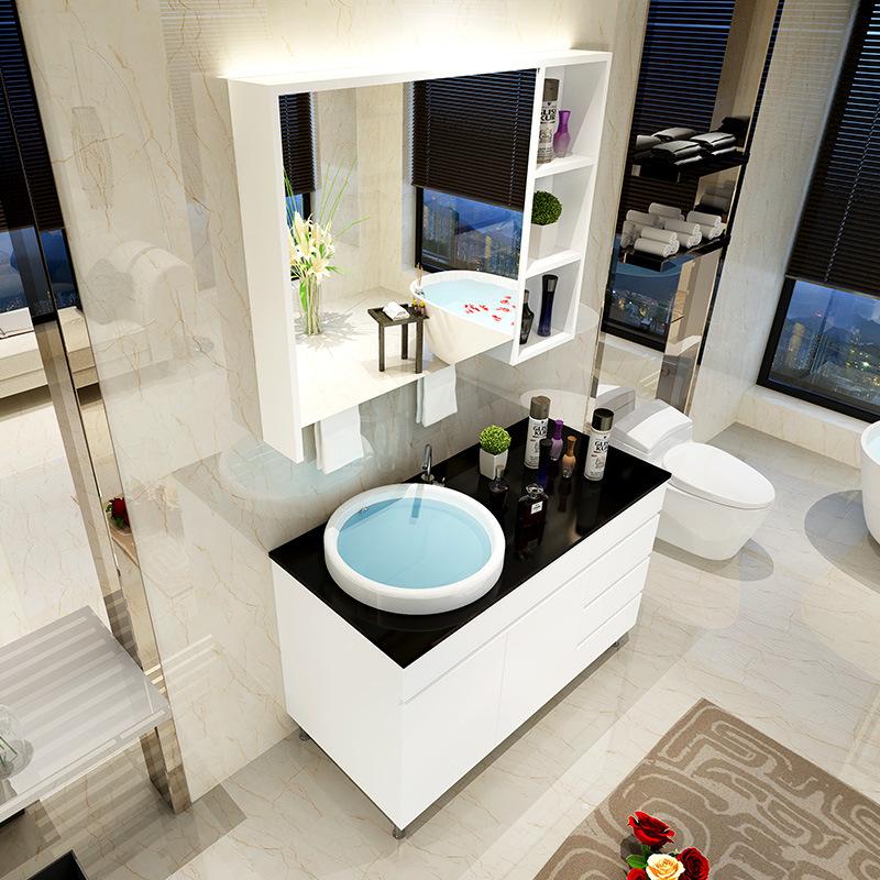 Home furniture good quality white PVC bathroom furniture