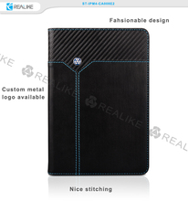 Stylish leather book cover tablet case for ipad mini 4