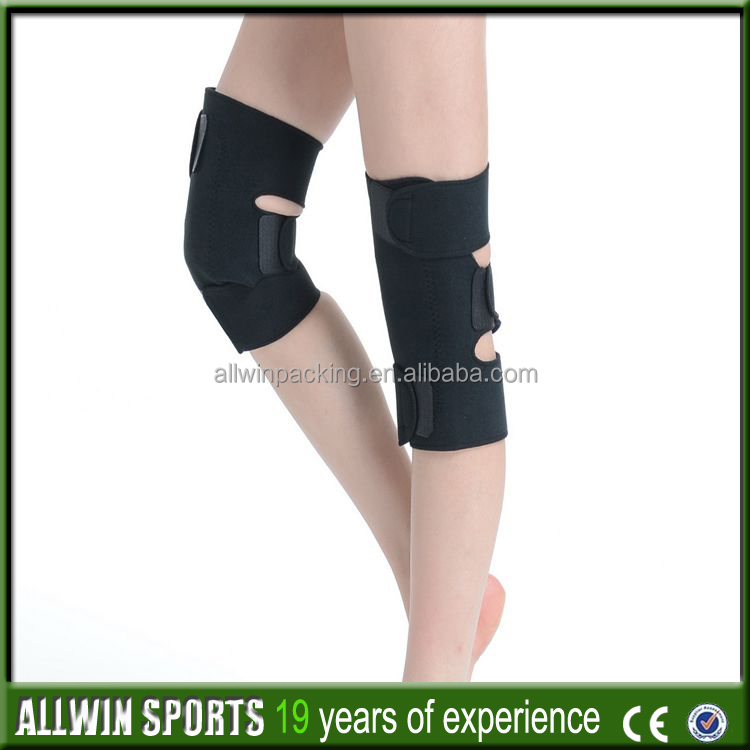 AWCP-09 Knitted Knee Pad Elastic Knee Brace Compression Sleeve Protector Sports Leg Warmer Guard Tennis Running Gym