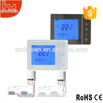 Home heating system thermostat for bolier