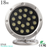 IR RF DMX Colors 18w Remote Control Led Swimming Pool Light