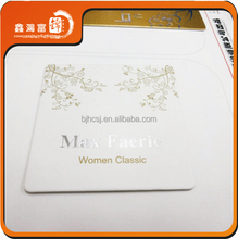 Fancy Die Cut Silver Foil Business Card Printing