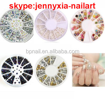 3D Rhinestone Decorations Nail Art Design Crystal Glitter Peral Nail Art Charms Wheel DIY Manicure Nail Tips Decorations