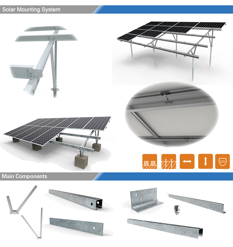 Solar Panel Roof Mount Kit