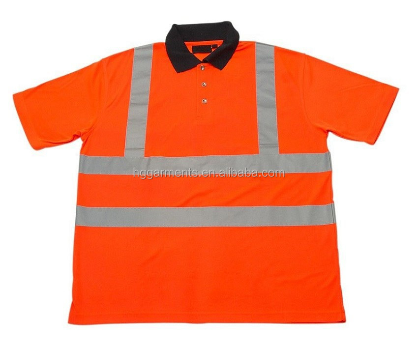 Hi vis safety polo shirt