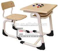 Space Saving Furniture Modern School Table and Chairs Set