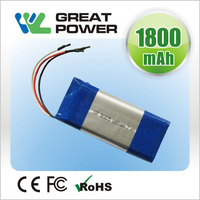 3.7v 1800mah 103450 gsp lithium polymer battery for audio
