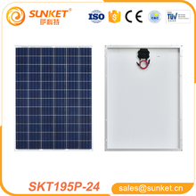 poly 195w solar pv module with solar charge for mobile phones all brands