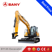 SANY SY135 13.5T Mini Small Best China Crawler Excavator with CE Certification