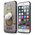 3D silicone cartoon creative decompression soft cover for iphone 6 plus