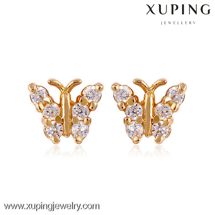 24026 Fashion women jewelry earrings studs cheap 18k gold stud earrings