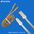 Newest Design Matt Zinc Plug Metal Data Line for iphone Micro Type C USB Charger Cable
