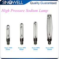 China Top 3 Manufacturer Indoor Hydroponics 250w 400w 600w 1000w High Pressure Sodium Lamp HPS Grow Light Bulbs