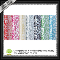 Non woven fabric with lace print for flower wrapper