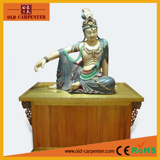 2016 Religous Statue Kwanyin wooden arts crafts
