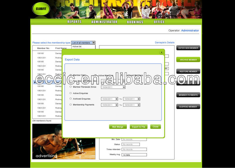Health Club Membership Management,Gym Membership