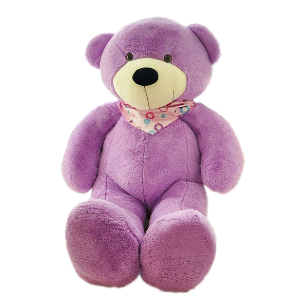 factory custom latex big teddy bear purple