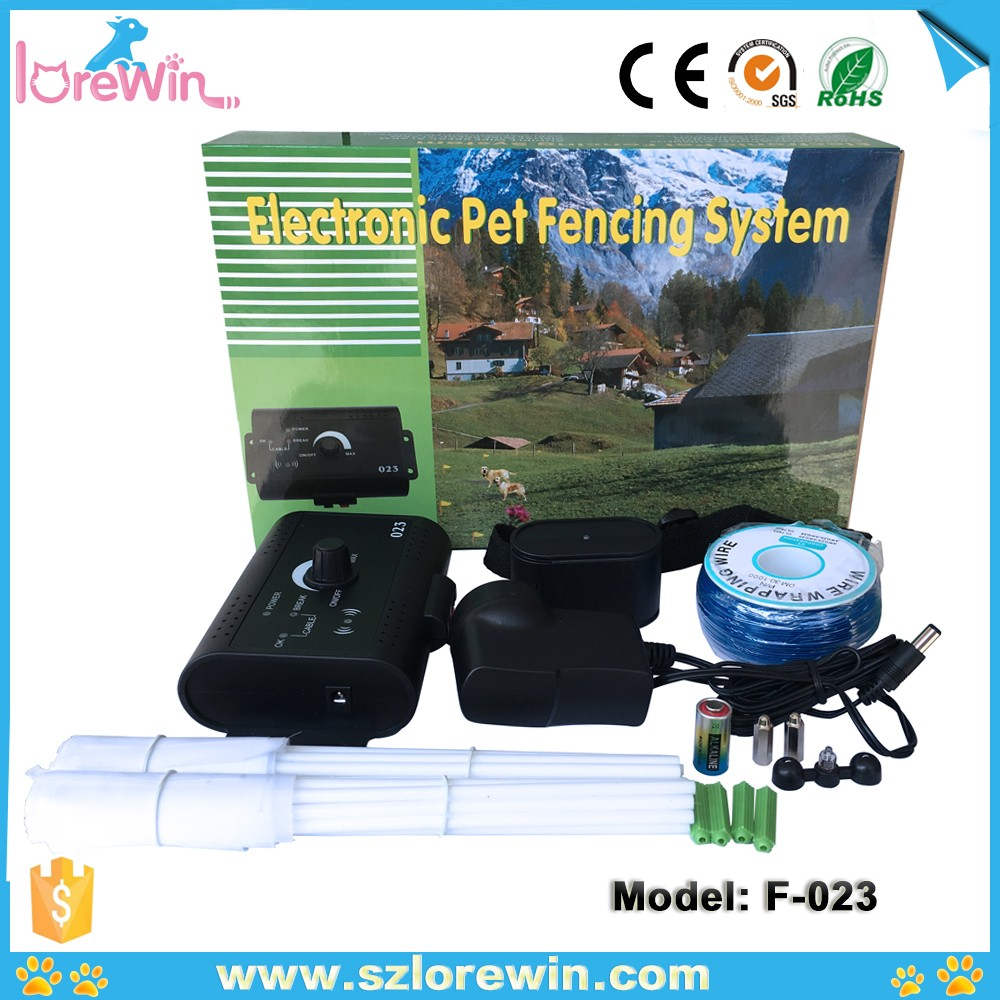 Hot Selling LoreWin Electric Dog Shock Collar 300m Remote Control Dog Training Fence F-023