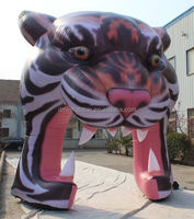 Newest Cheap Inflatable Tiger Head Arch /arch shaped door