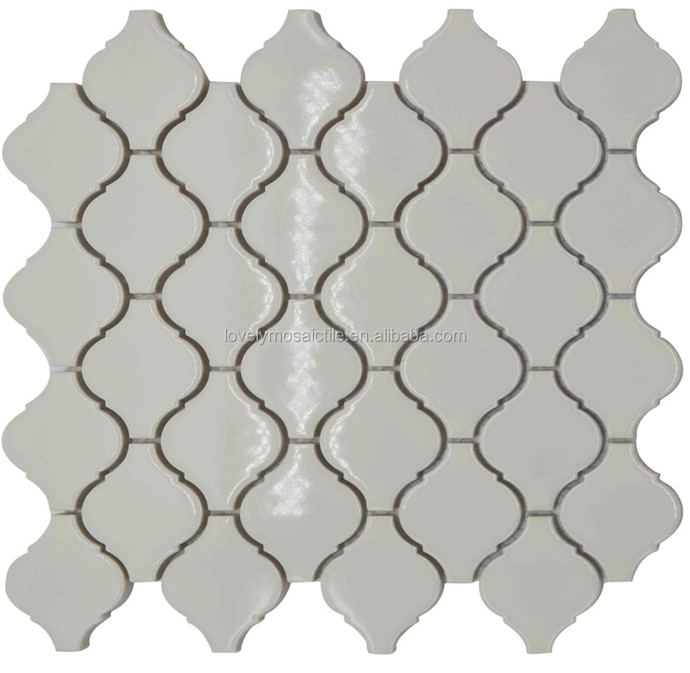 Ceramic Hexagon Pattern Black White Grey Floor Tiles