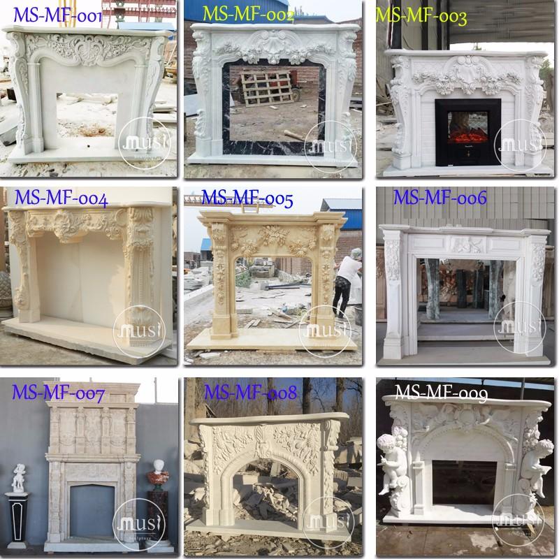 High Quality Luxury Decorate Corner Fireplace Mantel.jpg