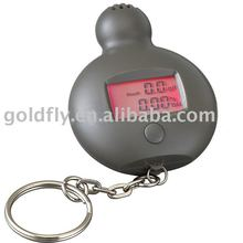 Mini Alcohol tester with Lcd display and key chain (GF-ALT-05) (digital breath alcohol tester/breath alcohol tester with clock)