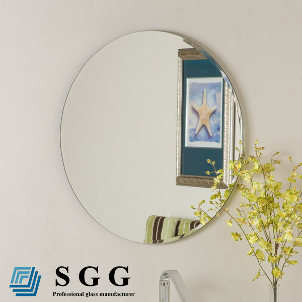 China factory round wall decorative silver bathroom mirror
