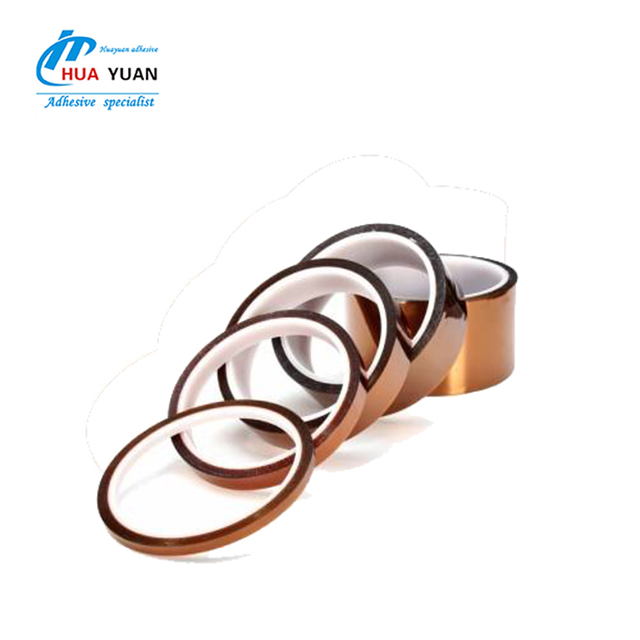 Heat resistance silicone rubber tape, amber single sided polyimide insulation tape, CR polyimide insulation tape