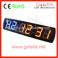 New style Ganxin led GYM timer red blue programmable digital clock
