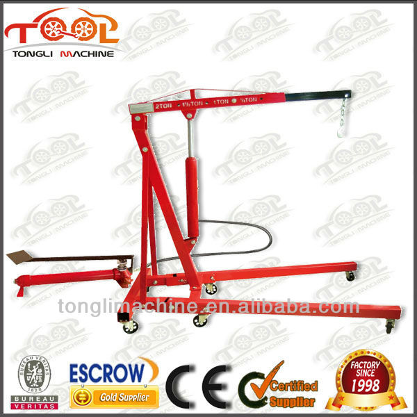 1 ton TL1100-1 manual hydraulic folding crane