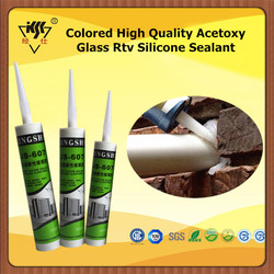 Colored High Quality Acetoxy Glass Rtv Silicone Sealant