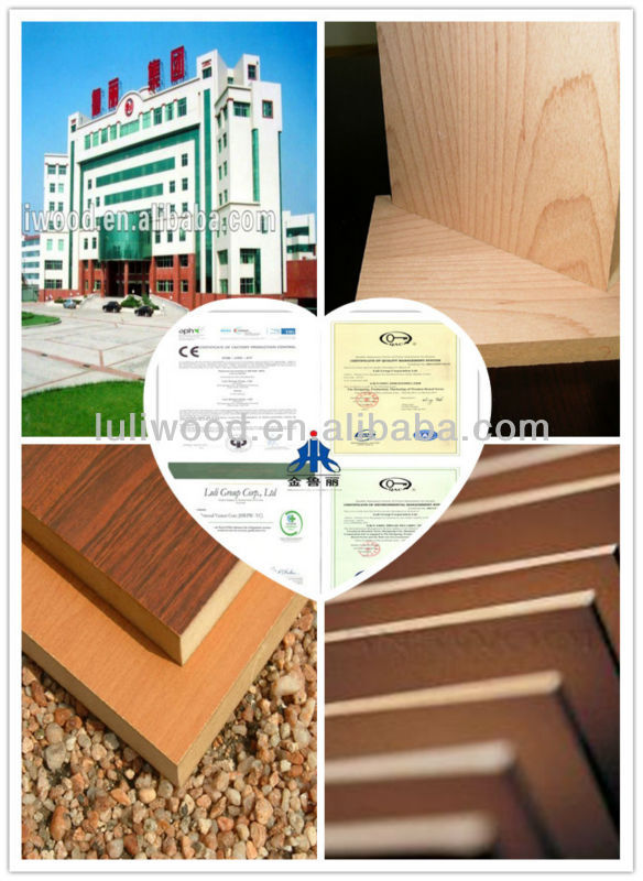 18mm Thickness Melamine/Raw MDF and HDF Board