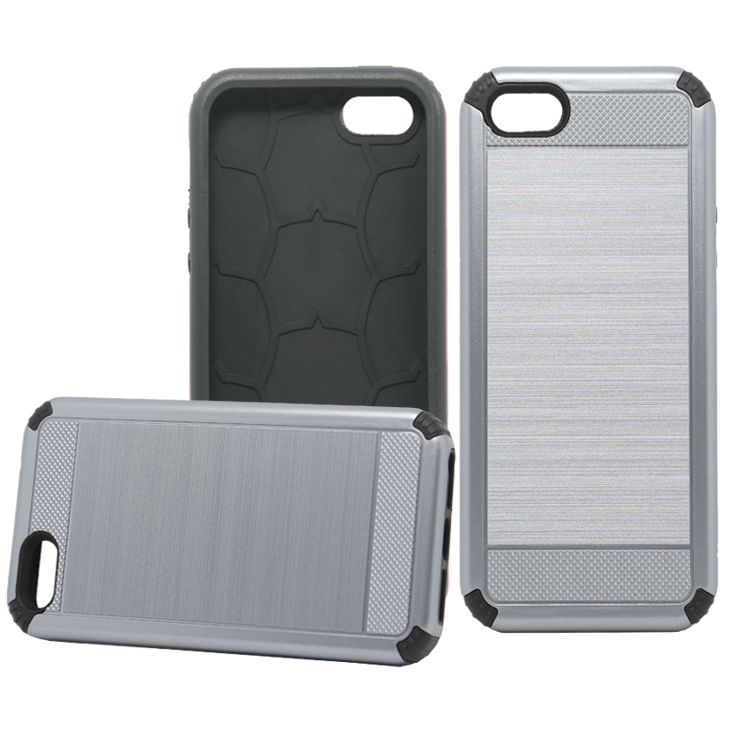 2 in 1 TPU PC Material Slim Armor Phone Case for iPhone 5s