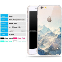 super clear transparent 3d custom chinese girl print soft silicon TPU mobile phone case cover for iphone 6 6s plus