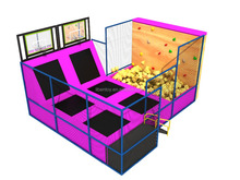 High quality kids foam pit trampoline jumping bed