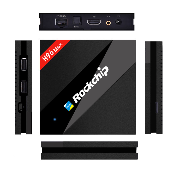 Most Professional H96 MAX RK3399 2G 16G android With the Best Quality ott 6.0 tv box