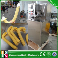 Ice cream used hollow tube corn expanding machine snack extruder machine/ corn stick snack machine