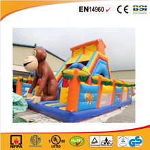 PVC tarpaulin Cheap Commercial Inflatable monkey jumping castle/inflatable animal funcity