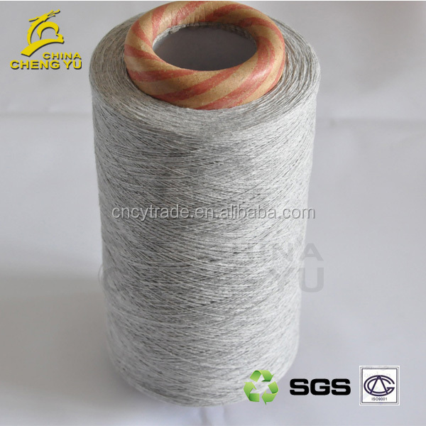T/C China factory supply cotton polyester mix recycled or regenerated yarn for T-shirt
